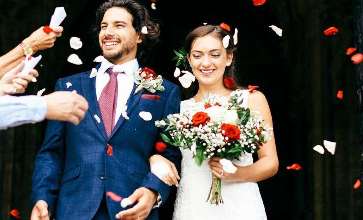 Wedding Flowers Outside Ceremony